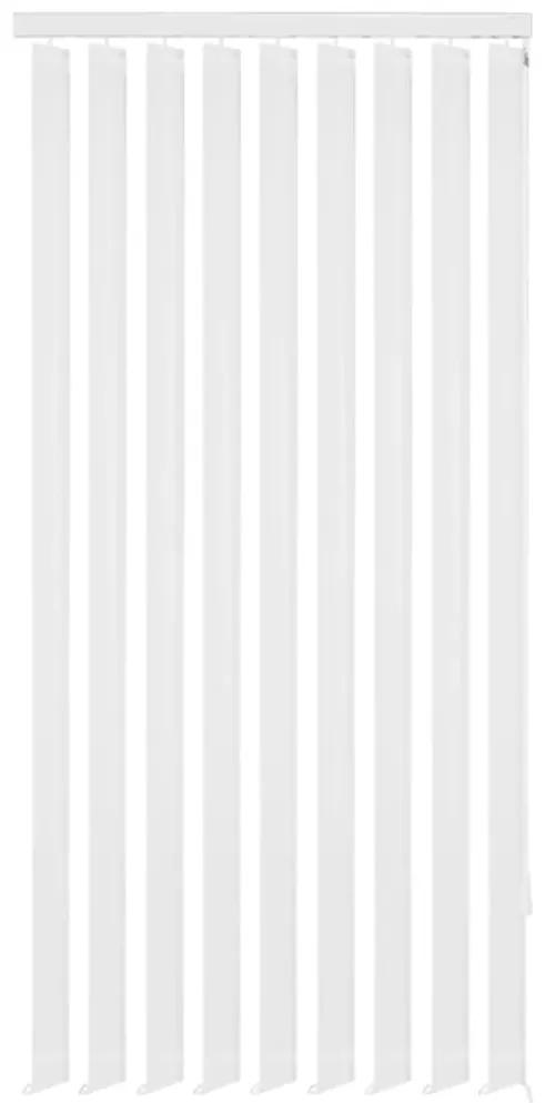 vidaXL Vertikálne látkové rolety, biele, 195x180 cm