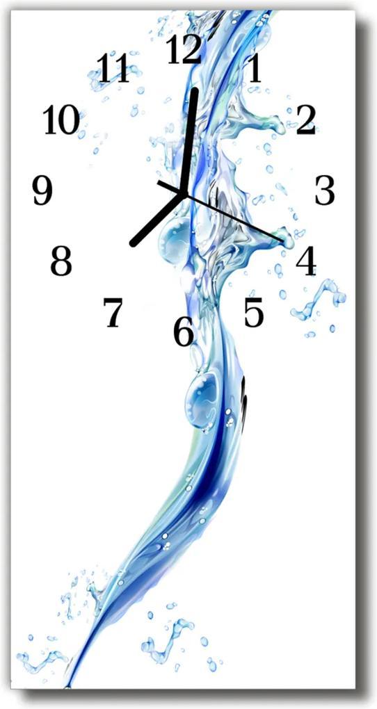Nástěnné hodiny vertikální Barevné kapky