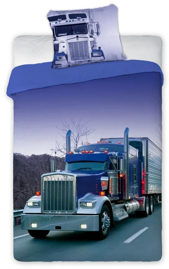 Bavlnené obliečky s kamiónom 01 140x200 70x90 cm 100% Bavlna Faro