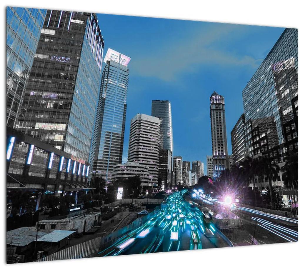 Obraz nočného mesta (70x50 cm), 40 ďalších rozmerov