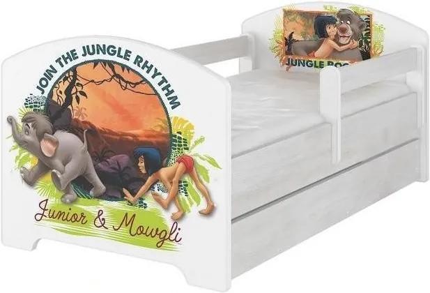 MAXMAX Detská posteľ so zásuvkou Disney - Kniha džunglí 140x70 cm 140x70 pre dievča pre chlapca pre všetkých ÁNO