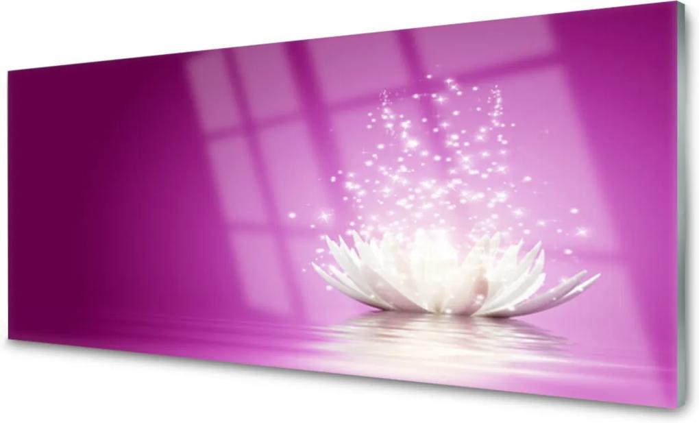 Obraz na skle Skleněný květ lotosu