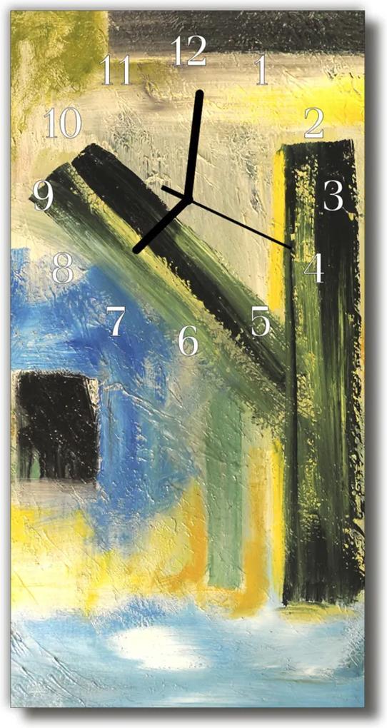 Skleněné hodiny vertikální Umělecký vzor barevný