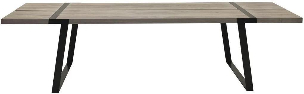 Jedálenský stôl Annie 240 -360 / biela-čierna