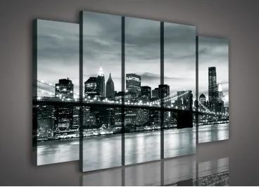 Obraz na plátne viacdielny - OB2761 - Nočný New York 150cm x 100cm - S12