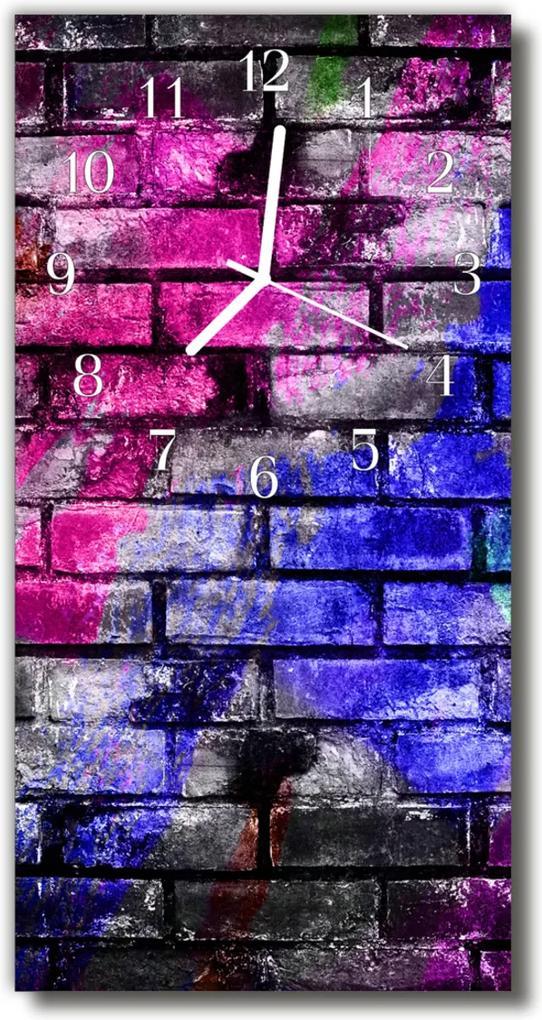 Skleněné hodiny vertikální Barevná barva postřikovače