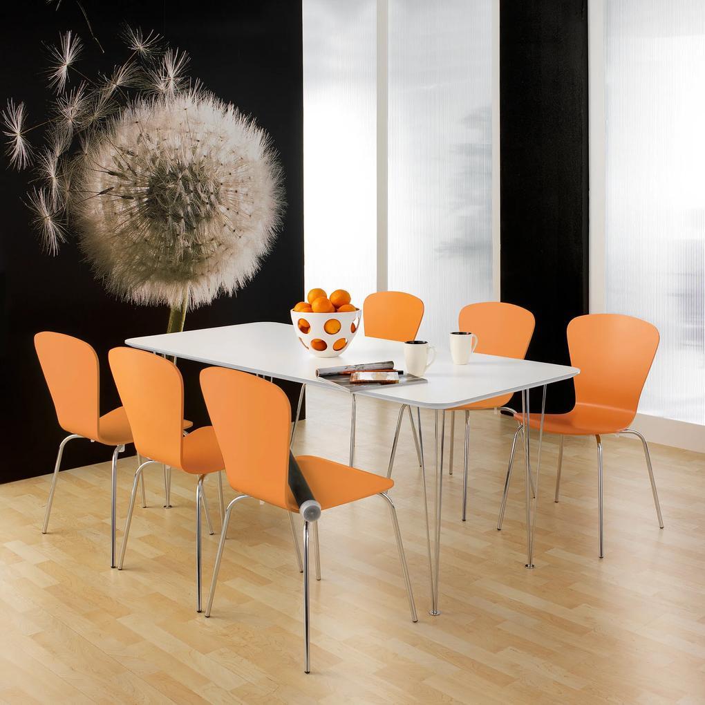 Jedálenský stôl Zadie, s HPL povrchom Š 1400 x H 800 x V 735 mmm, biela