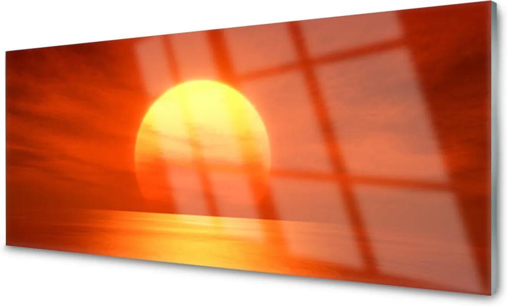 Plexisklo obraz Západ slunce moře