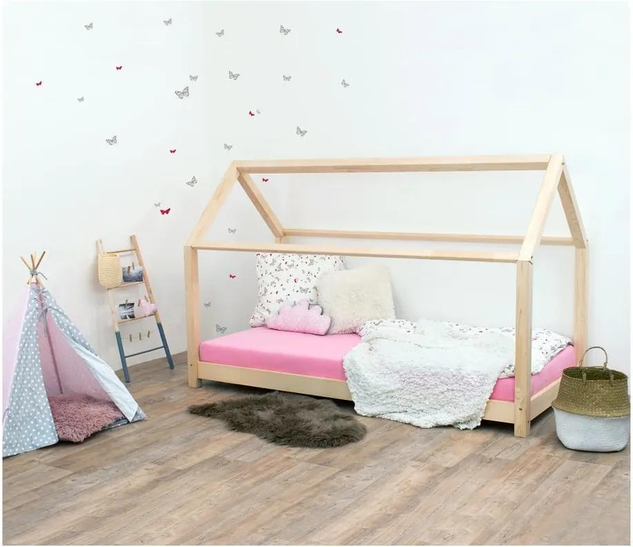 Prírodná detská posteľ bez bočníc zo smrekového dreva Benlemi Tery, 80 × 160 cm