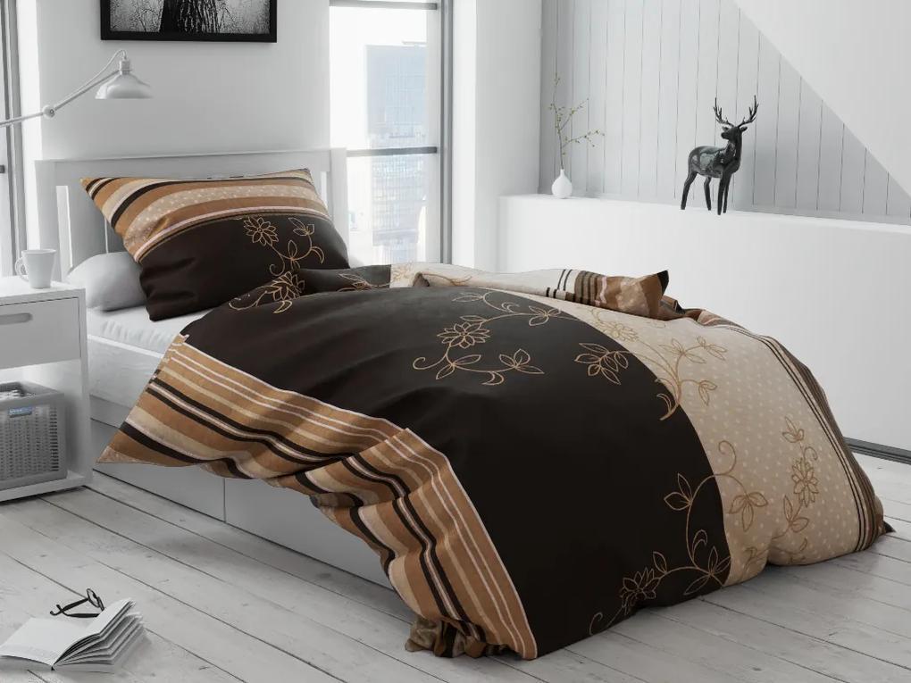 Krepové obliečky Bezkvet Hnedý Rozmer obliečok: 70 x 90 cm, 140 x 220 cm