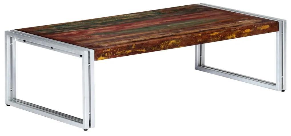 vidaXL Konferenčný stolík masívne recyklované drevo 120x60x35 cm