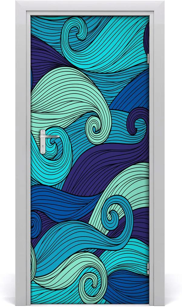 Fototapeta na dveře Abstraktní vlny