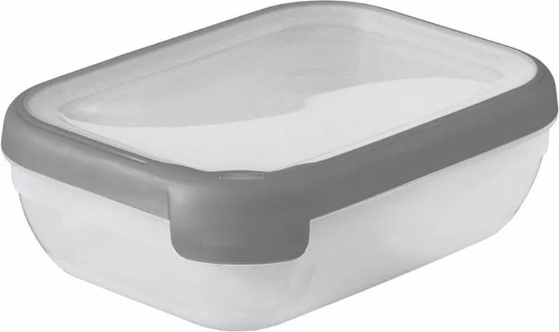 CURVER GRAND CHEF 1,2L Dóza obdĺžniková, 20 x 15 x 6,5 cm, transparentná/sivá 07379-673