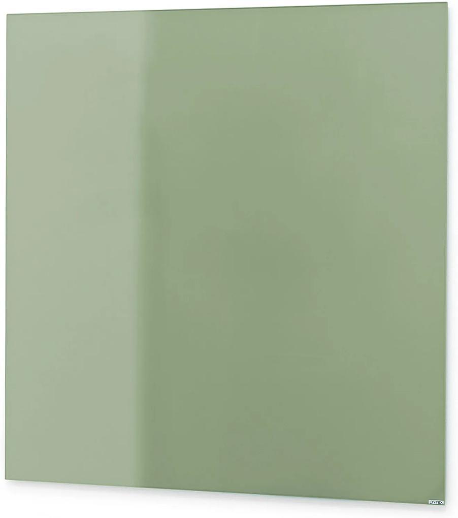 Sklenená magnetická tabuľa Stella, 500x500 mm, pastelová zelená