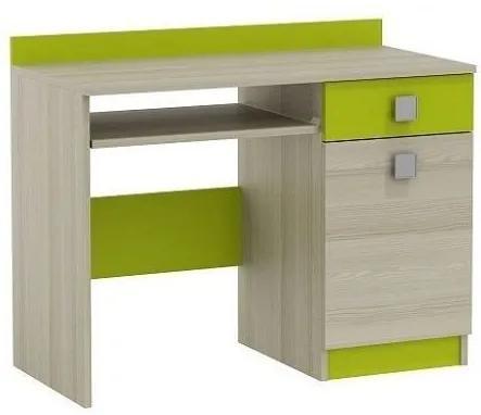 MAXMAX Písací stôl APPLE - TYP A pre dievča pre chlapca pre všetkých zelená multicolor