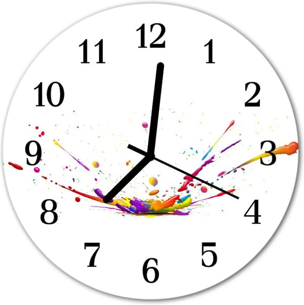 Sklenené hodiny okrúhle  škvrna