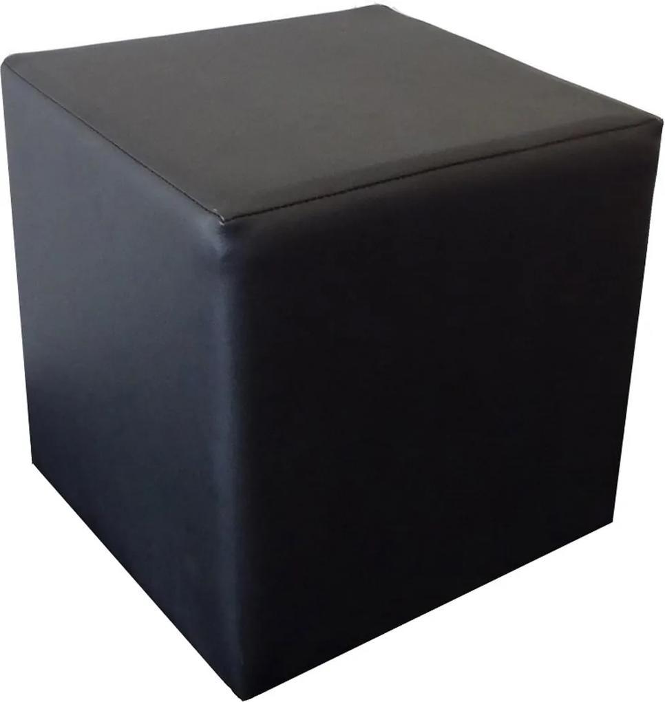 Najlacnejsinabytok CUBE taburetka, čierna ekokoža