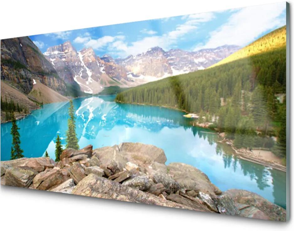 Obraz na skle Hory Jazero Príroda