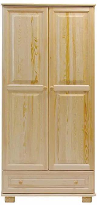 AMI nábytok skříň 2Dč1 šířka 80 borovice věšák/police