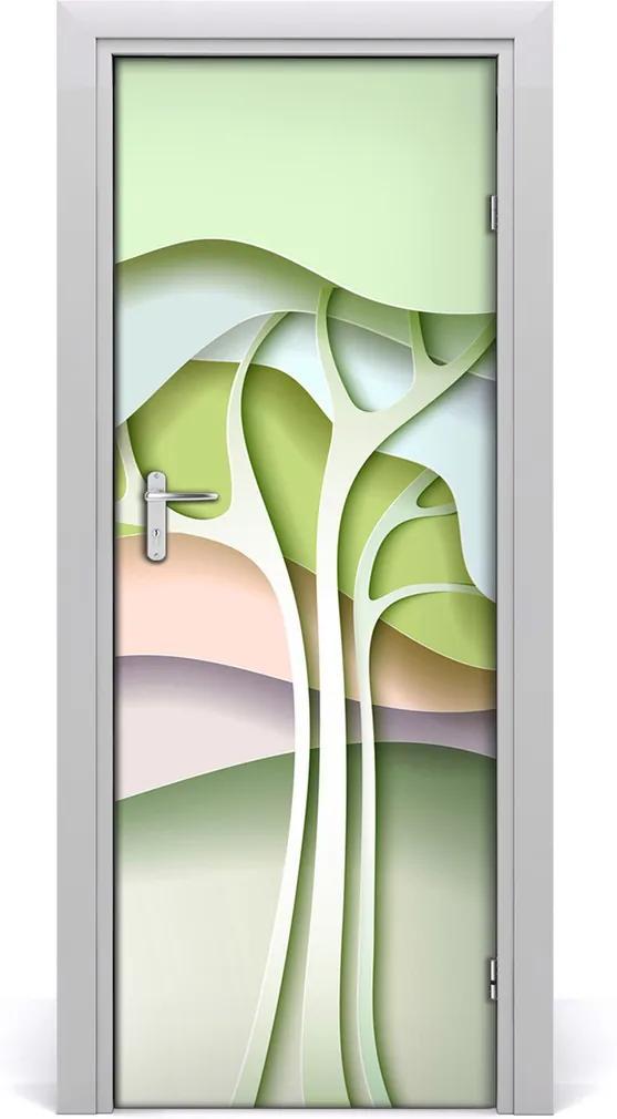 Samolepící fototapeta na dveře Abstraktní dřevo