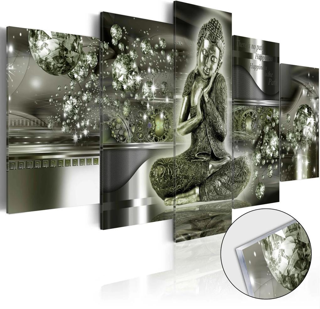 Obraz na akrylátovom skle - Emerald Buddha [Glass] 100x50