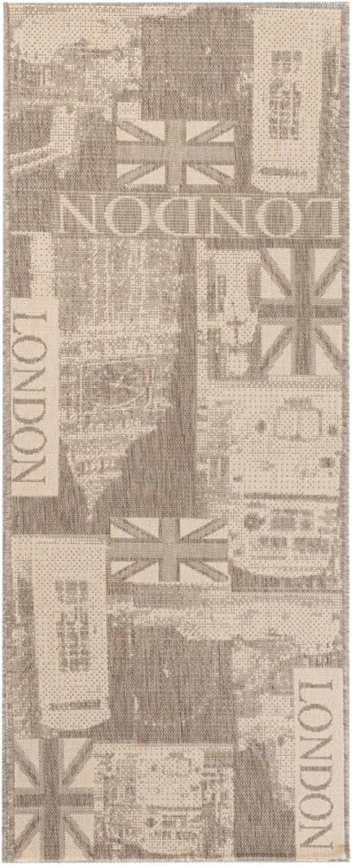 Kusový koberec Londýn béžový atyp, Velikosti 60x200cm