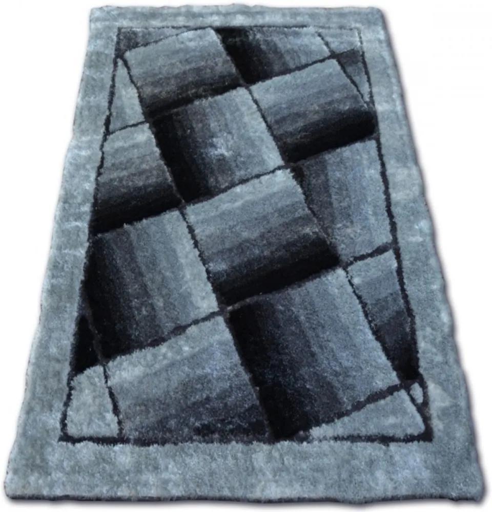 Luxusný kusový koberec Shaggy Sam sivý, Velikosti 140x190cm