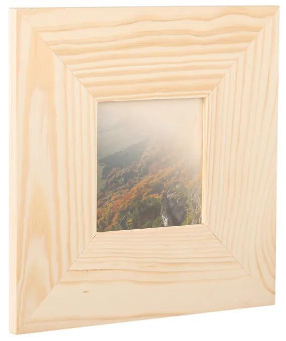 Drevobox Drevený fotorámik na stenu 23 x 23 cm
