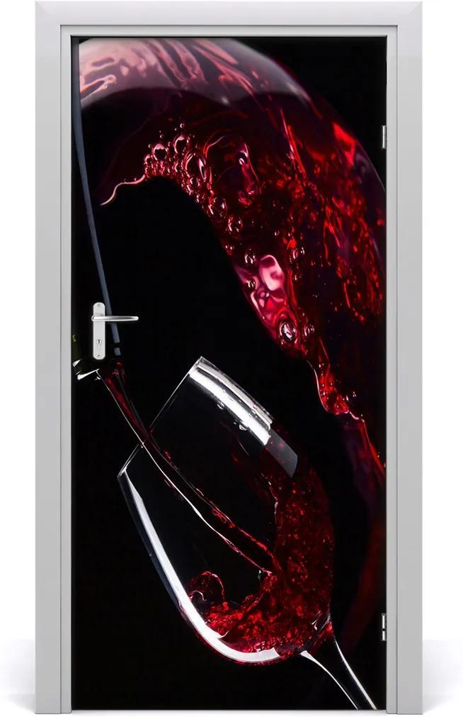 Fototapeta na dvere samolepiace  červené víno