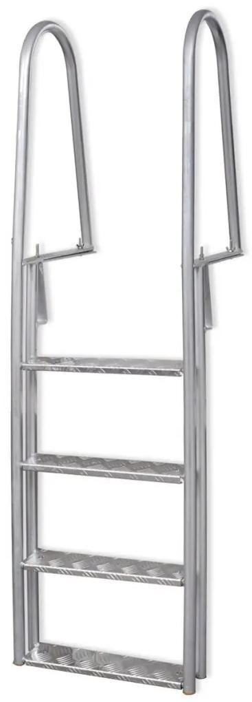 vidaXL Bazénové schodíky/rebrík k bazénu, 4-stupňový, 167 cm