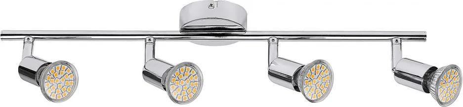Rábalux Norton LED 6988 Stropné Bodovky chróm GU10 4x MAX 50W 505 x 150 mm