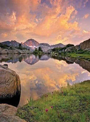 Fototapety, rozmer 184 x 254 cm, horské jazero, Komar 4-734