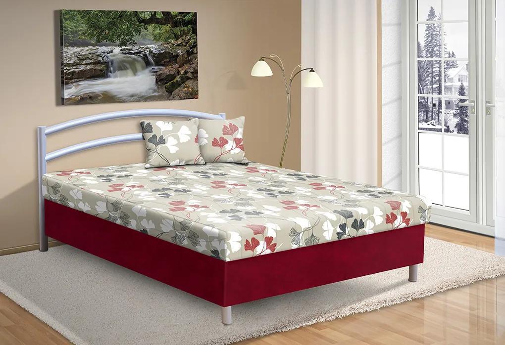 Čalúnená posteľ s úložným priestorom Andre 140x200cm farba čalounění: bordo/53874-1178