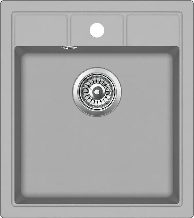 Granitový kuchynský drez - Aquastone NOVA 30 sivá