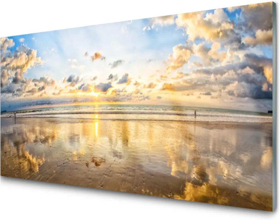 Obraz na skle Skleněný moře krajina