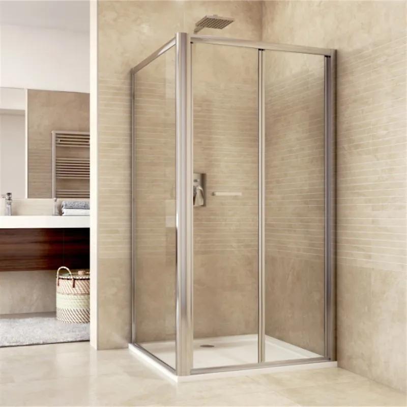 MAXMAX Sprchovací kút, Mistic, obdĺžnik, 100x80x190 cm, chróm ALU, sklo Chinchilla 100 obdélníkový