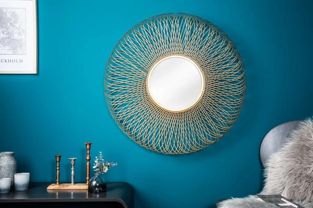 Dizajnové zrkadlo Caylee L, zlaté