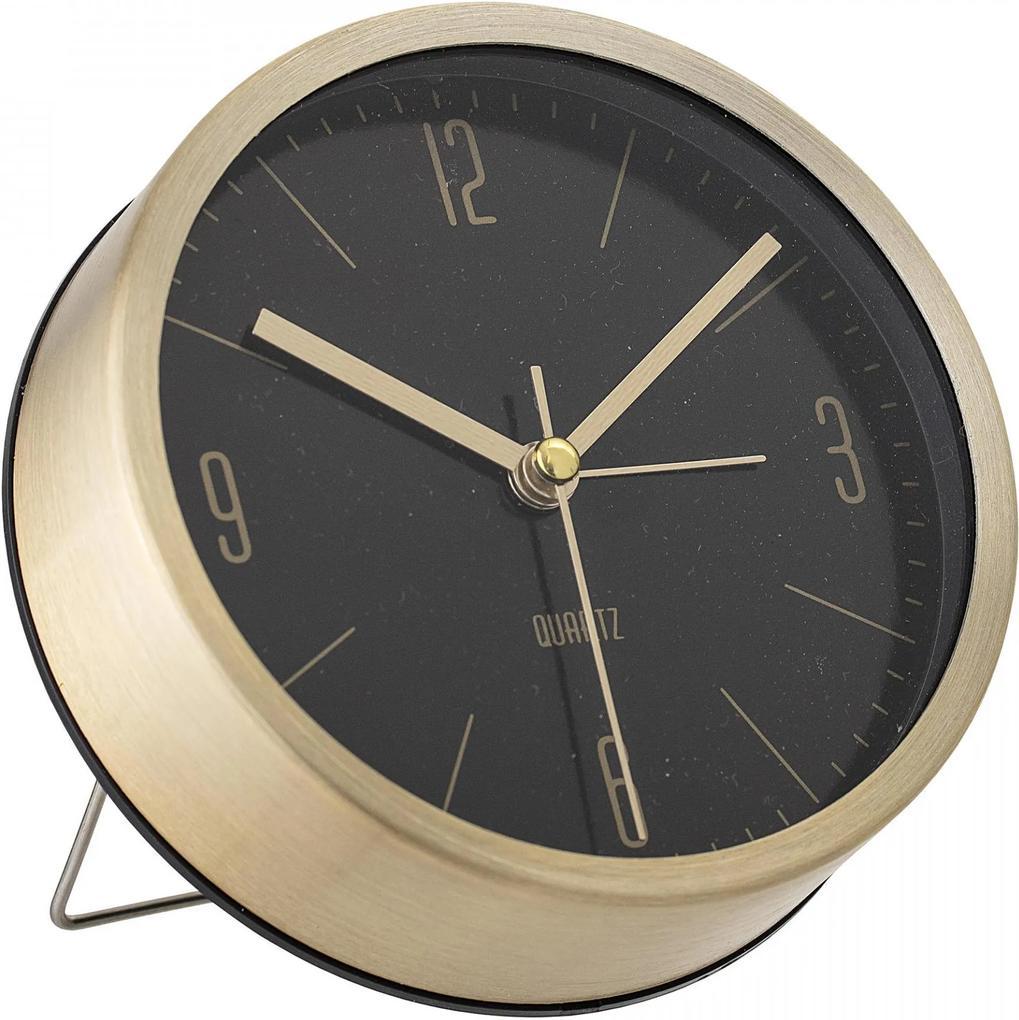 Bloomingville Stolné hodiny Gold&Black Aluminium