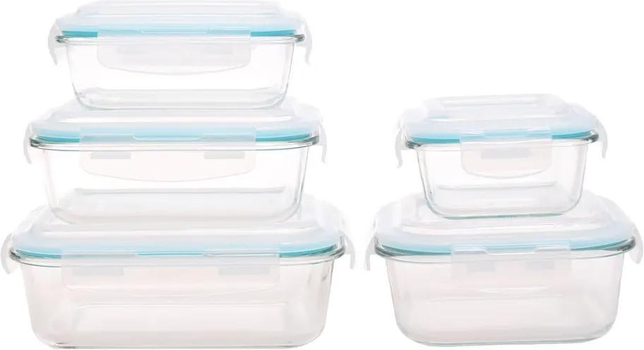 Sada 5 sklenených dóz na potraviny Sabichi