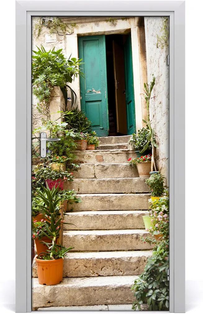 Fototapeta samolepící na dveře Staré schody
