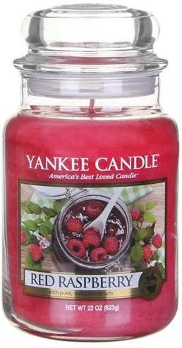 Sviečka v sklenenej dóze Yankee Candle Červená malina, 623 g