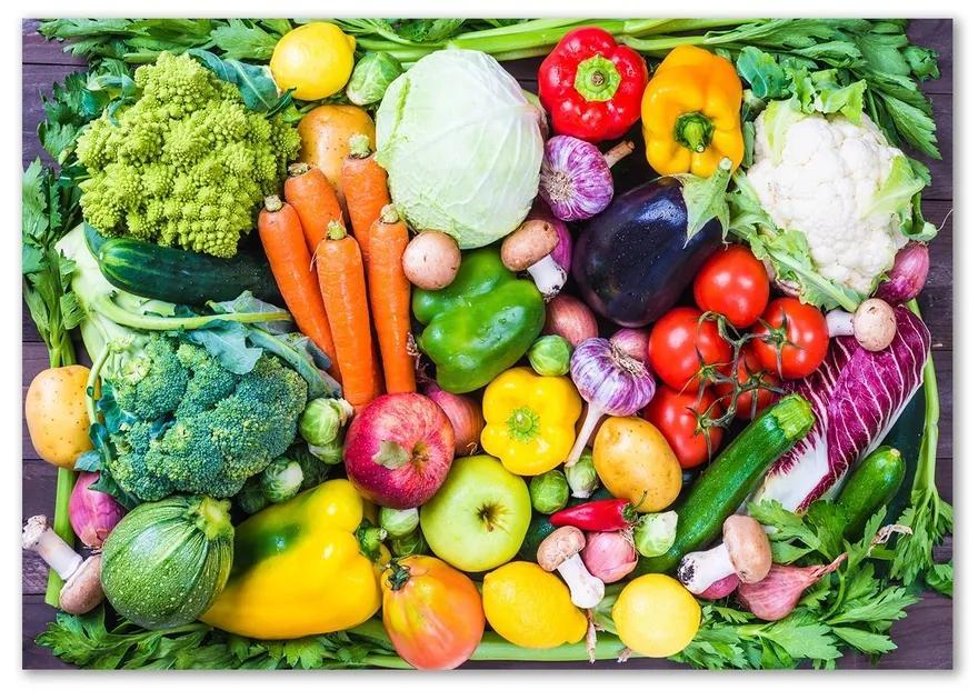 Foto obraz sklenený horizontálne Farebná zelenina pl-osh-100x70-f-93015665