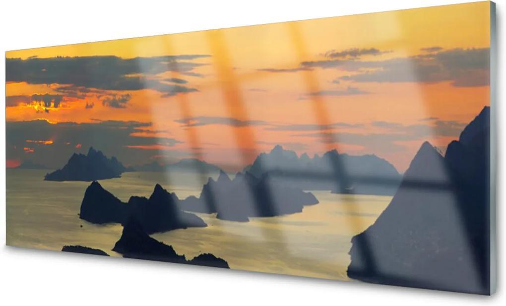 Plexisklo obraz Moře skály hory krajina