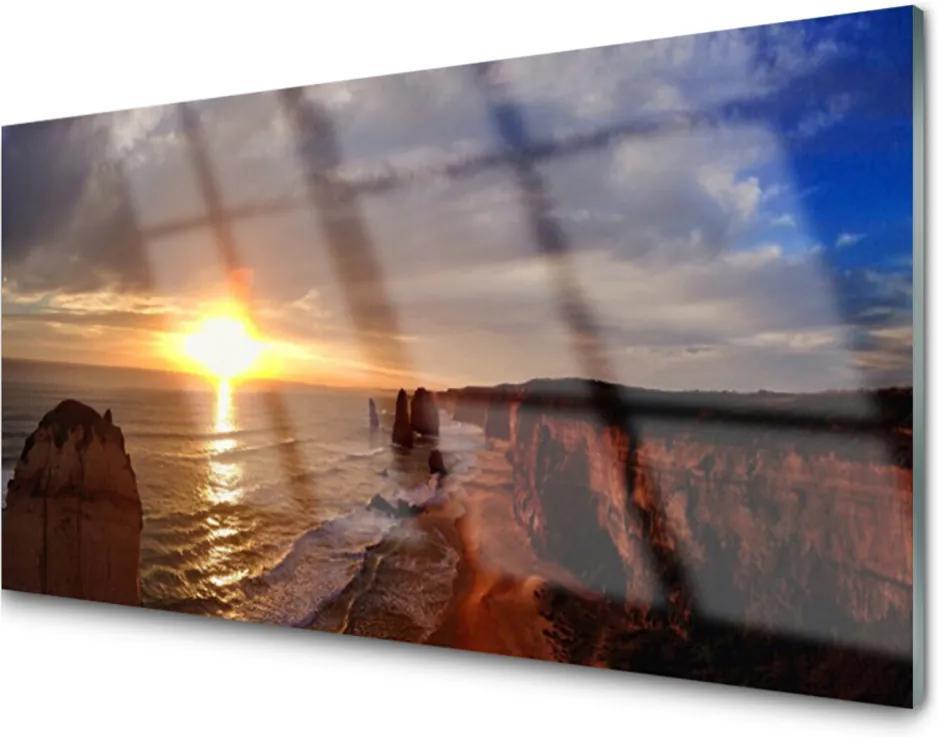 Obraz plexi More Slnko Krajina
