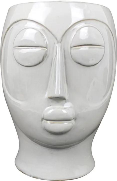 PRESENT TIME Sada 3 ks Biely kvetináč Mask