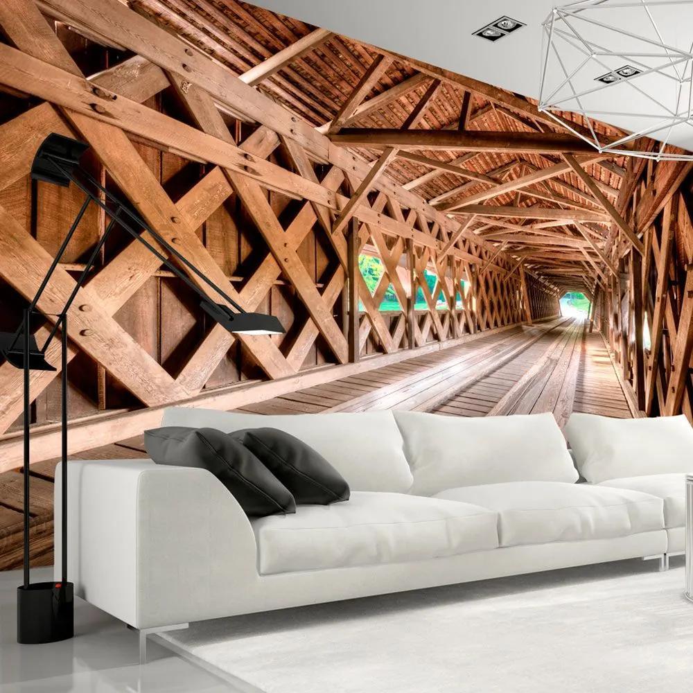 Fototapeta - Wooden Bridge 300x210