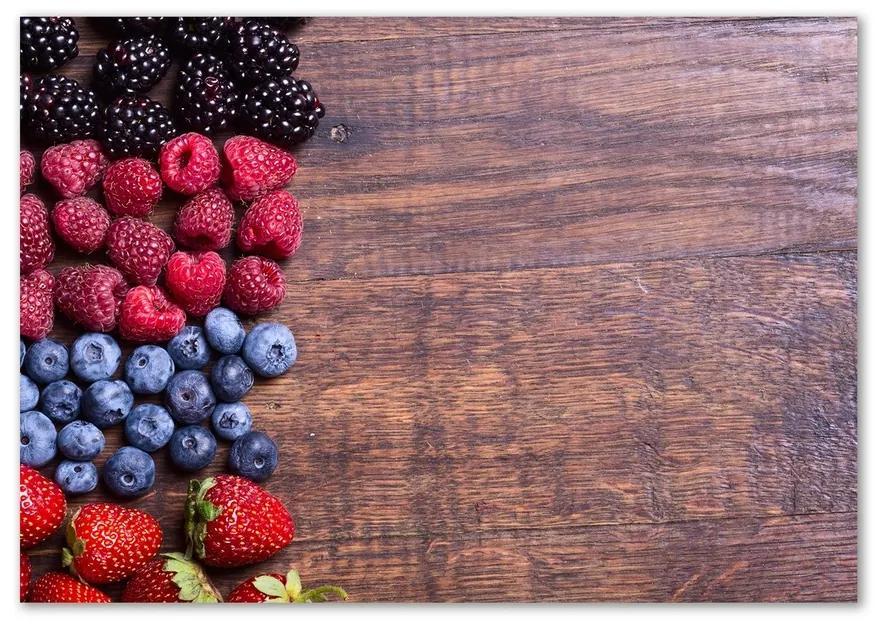 Foto obraz sklenený horizontálne Lesné ovocie pl-osh-100x70-f-89347175
