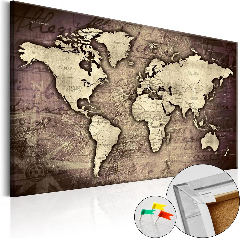 Obraz na korku - Precious World [Cork Map] 120x80