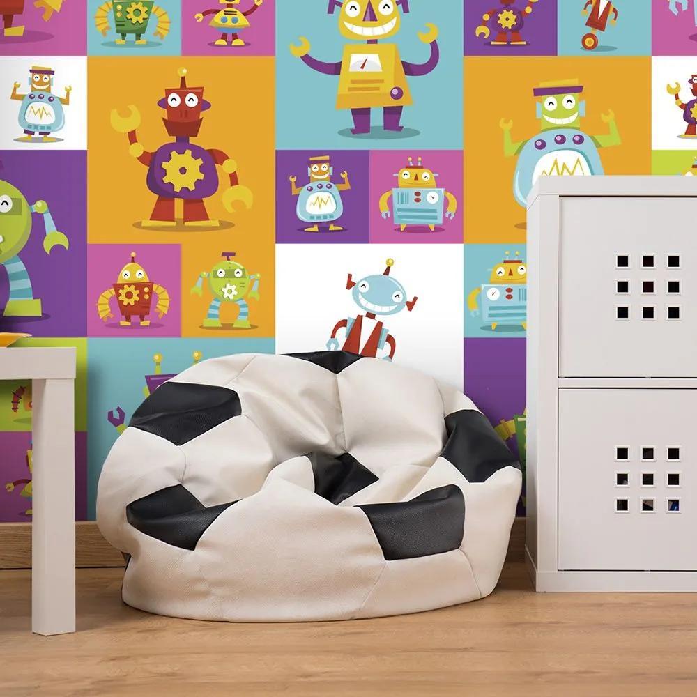 Fototapeta - Colorful Robots 50x1000