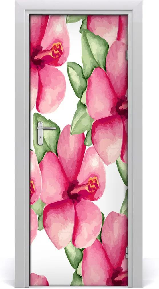 Samolepící fototapeta na dveře Tropické květiny